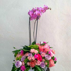 arreglo floral orquídeas